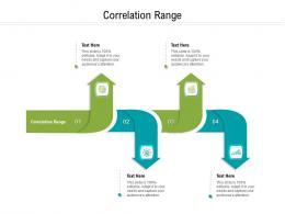 Correlation Range Ppt Powerpoint Presentation Icon Samples Cpb