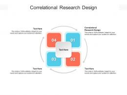 Correlational Research Design Ppt Powerpoint Presentation Slides Infographic Template Cpb