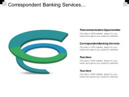 Correspondent Banking Services Telecommunication Opportunities Corporate Training Programme Cpb