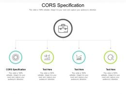 Cors Specification Ppt Powerpoint Presentation Show Design Ideas Cpb