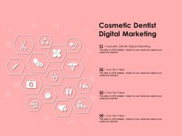Cosmetic Dentist Digital Marketing Ppt Powerpoint Presentation File Clipart Images