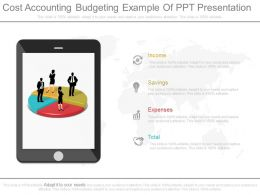 Cost Accounting Budgeting Example Of Ppt Presentation