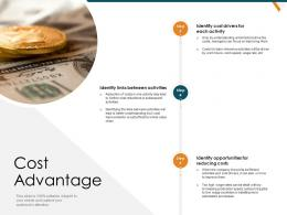 Cost Advantage Opportunities Strategic Management Value Chain Analysis Ppt Diagrams