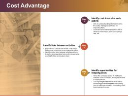 Cost Advantage Powerpoint Presentation Examples