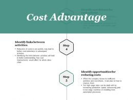 Cost Advantage Powerpoint Slide Designs Download