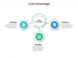 Cost Advantage Ppt Powerpoint Presentation Professional Background Designs Cpb