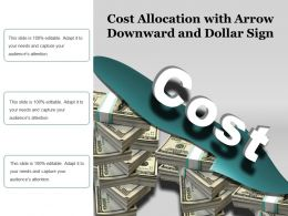 Cost Allocation With Arrow Downward And Dollar Sign