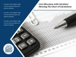Cost Allocation With Calculator Showing The Chart Of Calculations