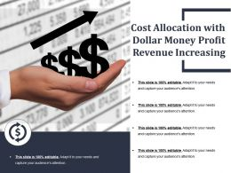 Cost Allocation With Dollar Money Profit Revenue Increasing