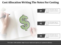 Cost Allocation Writing The Notes For Costing