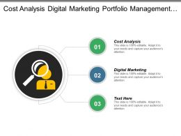 Cost Analysis Digital Marketing Portfolio Management Big Data Cpb