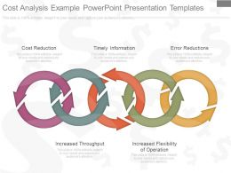 Cost Analysis Example Powerpoint Presentation Templates