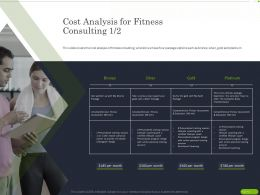 Cost Analysis For Fitness Consulting Evaluation Ppt Powerpoint Presentation Icon