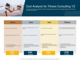 Cost Analysis For Fitness Consulting M3102 Ppt Powerpoint Presentation Slides Display