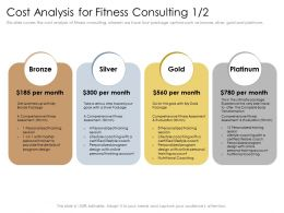 Cost Analysis For Fitness Consulting Silver Package Powerpoint Presentation Slide