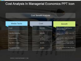 Cost Analysis In Managerial Economics Ppt Icon