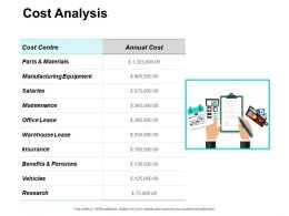Cost Analysis Maintenance Ppt Powerpoint Presentation Outline Slide Portrait