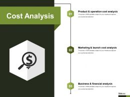 Cost Analysis Powerpoint Slide Deck Samples