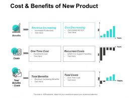 Cost And Benefits Of New Product Revenue Increasing Ppt Powerpoint Presentation Slides