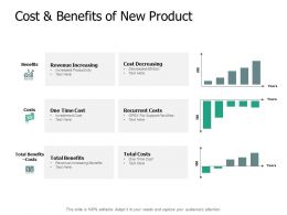 Cost And Benefits Of New Product Revenue Ppt Powerpoint Presentation Outline