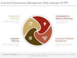 Cost And Performance Management Slide Example Of Ppt