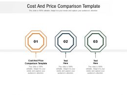 Cost And Price Comparison Template Ppt Powerpoint Presentation Infographic Template Objects Cpb