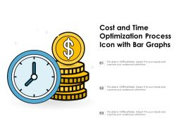 Cost And Time Optimization Process Icon With Bar Graphs