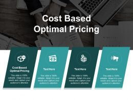 Cost Based Optimal Pricing Ppt Powerpoint Presentation Ideas Clipart Cpb