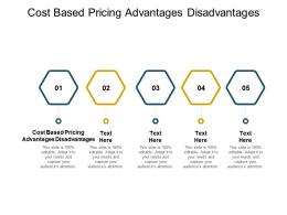 Cost Based Pricing Advantages Disadvantages Ppt Powerpoint Presentation Ideas Graphics Cpb
