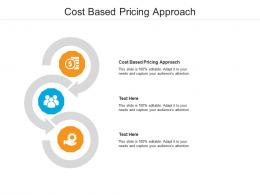 Cost Based Pricing Approach Ppt Powerpoint Presentation Infographic Template Themes Cpb