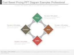 Cost Based Pricing Ppt Diagram Examples Professional