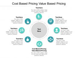 Cost Based Pricing Value Based Pricing Ppt Powerpoint Presentation Infographics Clipart Images Cpb