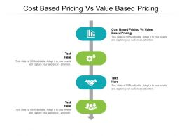 Cost Based Pricing Vs Value Based Pricing Ppt Powerpoint Presentation Model Background Cpb