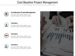 Cost Baseline Project Management Ppt Powerpoint Presentation Layouts Inspiration Cpb