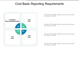 Cost Basis Reporting Requirements Ppt Powerpoint Presentation File Objects Cpb