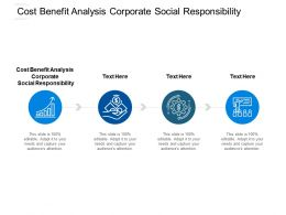 Cost Benefit Analysis Corporate Social Responsibility Ppt Clipart Cpb