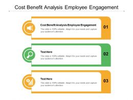 Cost Benefit Analysis Employee Engagement Ppt Powerpoint Presentation Infographics Inspiration Cpb