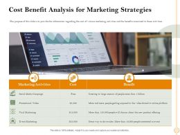 Cost Benefit Analysis For Marketing Strategies People Ppt Powerpoint Presentation Infographics