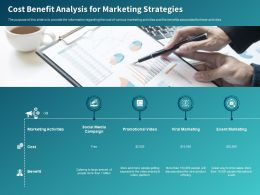 Cost Benefit Analysis For Marketing Strategies Ppt Powerpoint Presentation Infographics Professional