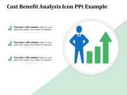Cost Benefit Analysis Icon Ppt Example
