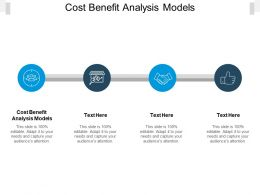 Cost Benefit Analysis Models Ppt Powerpoint Presentation Icon Styles Cpb