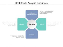 Cost Benefit Analysis Techniques Ppt Powerpoint Presentation Model Ideas Cpb