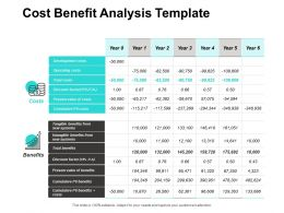 Cost Benefit Analysis Template Storage Ppt Powerpoint Presentation Pictures Diagrams