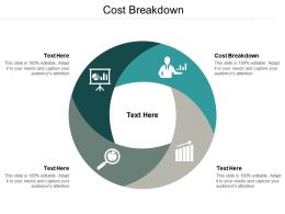 Cost Breakdown Ppt Powerpoint Presentation Pictures Slide Cpb