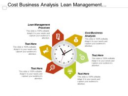 Cost Business Analysis Lean Management Practices Risk Mitigation Strategy Cpb