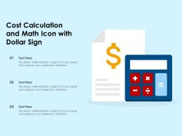 Cost Calculation And Math Icon With Dollar Sign
