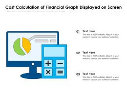 Cost Calculation Of Financial Graph Displayed On Screen