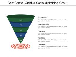 Cost Capital Variable Costs Minimizing Cost Management Buy