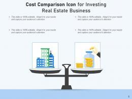Cost Comparison Icon Business Innovation Entrepreneur Product Healthcare Insurance