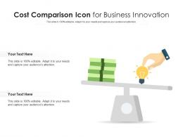 Cost Comparison Icon For Business Innovation